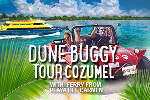Dune Buggy Tour Cozumel with Ferry From Playa Del Carmen – Tour Picture