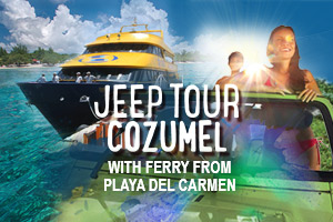 Jeep Tour Cozumel with Ferry from Playa del Carmen – Tour Picture