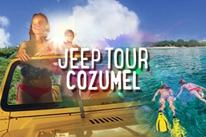 Jeep Tour Cozumel Snorkel Punta Sur and Beach Break – Tour Picture